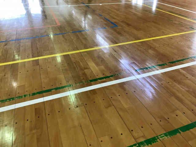 体育館の床画像