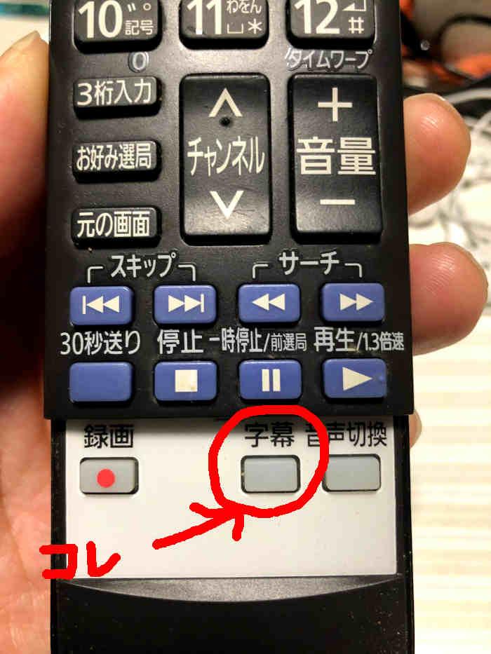 リモコン字幕ボタン写真
